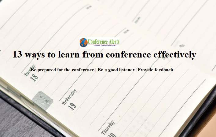 Effective ways to learn from Conference alerts
